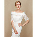 cheap Dance Accessories-Lace / Satin Wedding / Party / Evening Women's Wrap With Lace Shrugs