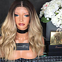 cheap Human Hair Wigs-Remy Human Hair Glueless Lace Front / Lace Front Wig Body Wave Wig 130% Ombre Hair / Natural Hairline / African American Wig Women's Short / Medium Length / Long Human Hair Lace Wig / 100% Hand Tied