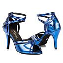 halpa Kengät moderniin tanssiin-Naisten Lattarikengät Tekonahka Sandaalit Siksakki Stilettikorko Mahdollisuus räätälöidä Tanssikengät Oranssi / Purppura / Sininen
