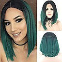 cheap Synthetic Capless Wigs-Synthetic Lace Front Wig Straight Bob Haircut Synthetic Hair Ombre Hair Green Wig Women's Short Lace Front