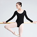 cheap Ballet Dance Wear-Ballet Leotards Women's Training Cotton Long Sleeve High Leotard / Onesie