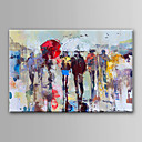 cheap People Paintings-Oil Painting Hand Painted - Abstract Abstract Canvas