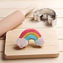olcso Szabadság Akciók-Bakeware eszközök Rozsdamentes acél Karácsony / Esküvő / Születésnap Kenyér / Keksz / Palacsinta Cartoon Shaped Cookie Tools 1db