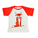 tanie Zestawy ubrań dla chłopców-Brzdąc Dla chłopców Nadruk Krótki rękaw Bawełna T-shirt