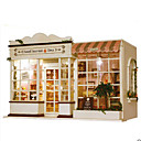 cheap Doll Houses-Model Building Kit DIY House Plastics Classic Pieces Unisex Gift