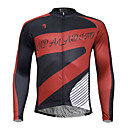 ieftine Deschizătoare de Vin-ILPALADINO Bărbați Manșon Lung Jerseu Cycling Modă Bicicletă Jerseu Topuri, Rezistent la Vânt Uscare rapidă YKK Fermoar, Toamnă Primăvară, Poliester Coolmax® 100% Poliester / Strech