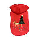 cheap Dog Clothes-Dog Hoodie Dog Clothes Reindeer Red Cotton Down Costume For Pets Christmas