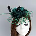 baratos Acessórios de Cabelo-Rede Fascinadores / Chapéus / Decoração de Cabelo com Floral 1pç Casamento / Ocasião Especial Capacete