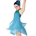cheap Dance Accessories-Ballet Dresses Women's Performance Polyester / Spandex Draping / Paillette Sleeveless Natural Dress / Headwear