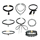 cheap Jewelry Sets-Women's Jewelry Set - Dangling Style, Basic, Fashion Include Choker Necklace / Pendant Necklace Black For Street / Casual / Daily / Office & Career