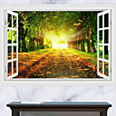 cheap Wall Stickers-Landscape Wall Stickers 3D Wall Stickers Decorative Wall Stickers, Plastic Home Decoration Wall Decal Wall