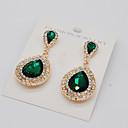cheap Earrings-Women's Drop Earrings - Teardrop Fashion, Euramerican Green / Blue / Champagne For Party