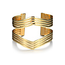 cheap Bracelets-Women's Hollow Cuff Bracelet Wide Bangle - Punk, Fashion Bracelet Gold For Christmas Gifts Birthday Gift