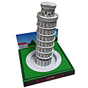 baratos Quebra-Cabeças 3D-Quebra-Cabeças 3D Maquetes de Papel Brinquedos de Montar Torre Construções Famosas Torre inclinada de Pisa Faça Você Mesmo Cartão de