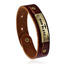 cheap Bracelets-Leather Bracelet - Leather Ladies, Vintage, Fashion Bracelet Jewelry Brown For Wedding Party Sports
