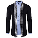 cheap Necklaces-Men's Long Sleeves Wool Cardigan - Color Block V Neck