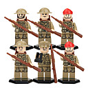 cheap Building Blocks-DILONG Building Blocks / Block Minifigures / Educational Toy 105 pcs Military / Warrior Unisex Gift