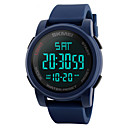 cheap Softshell, Fleece & Hiking Jackets-SKMEI Men's Sport Watch / Military Watch / Wrist Watch Japanese Alarm / Calendar / date / day / Chronograph PU Band Fashion Black / Blue / Green / Water Resistant / Water Proof / Dual Time Zones