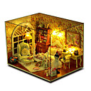 cheap Doll Houses-CUTE ROOM Wood Model Model Building Kit DIY House Plastics Wood Pieces Unisex Gift