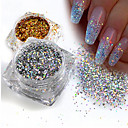 cheap Rhinestone & Decorations-1pc Sequins / Glitter Powder Elegant & Luxurious / Sparkle & Shine / Nail Glitter Nail Art Design