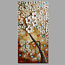 cheap Abstract Paintings-Oil Painting Hand Painted - Floral / Botanical Modern / Contemporary Canvas