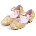 cheap Backpacks-Girls' Shoes PU Spring & Summer Comfort / Flower Girl Shoes Flats Rhinestone / Sequin for Silver / Blue / Pink