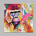 tanie Obrazy: abstrakcja-Hang-Malowane obraz olejny Ręcznie malowane - Zwierzęta Nowoczesny / współczesny Brezentowy / Zwijane płótno