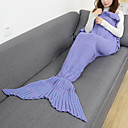 cheap Kigurumi Pajamas-Emergency Blanket Blanket Travel Blanket Casual/Daily Mermaid