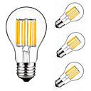 billige LED-lyspærer-4stk 10 W 900 lm E26 / E27 LED-glødepærer A60(A19) 10 LED perler COB Dekorativ Varm hvit / Kjølig hvit 220-240 V / 4 stk. / RoHs