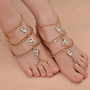 cheap Anklet-Barefoot Sandals - Drop Fashion Gold / Silver For Daily / Outdoor clothing / Going out / Women's / Rhinestone