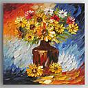 olcso Csendélet festmények-Hang festett olajfestmény Kézzel festett - Csendélet Absztrakt Tartalmazza belső keret