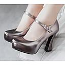 baratos Botas Femininas-Mulheres Sapatos Pele Nobuck / Couro Ecológico Primavera Conforto Saltos Prata / Cinzento Escuro / Vermelho