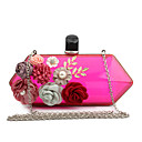 cheap Clutches & Evening Bags-Women's Bags Special Material Evening Bag Appliques Red / Yellow / Fuchsia / Transparent Bags