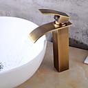 cheap Bathroom Sink Faucets-Bathroom Sink Faucet - Waterfall Antique Copper Centerset One Hole Bath Taps