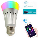 preiswerte LED Glühbirnen-YWXLIGHT® 7W 600lm E27 Smart LED Glühlampen A60(A19) 22 LED-Perlen SMD 2835 WiFi RGB Weiß 85-265V