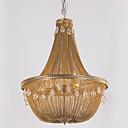 cheap Chandeliers-Ecolight™ 8-Light Pendant Light Ambient Light Antique Bronze Metal Crystal, Designers 110-120V / 220-240V Bulb Not Included
