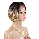 cheap Hair Braids-Twist Braids / Synthetic Lace Front Wig Box Braids Blonde Short Bob Synthetic Hair 12 inch Blonde / Burgundy Wig Women's