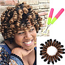 cheap Hair Braids-Braiding Hair Curly / Bouncy Curl / Crochet Pre-loop Crochet Braids Synthetic Hair 1pc / pack, 20 roots / pack Hair Braids 100% kanekalon hair
