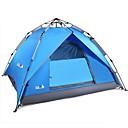 זול אוהלים וסככות-BSwolf 4 איש Automatic Tent חיצוני עמיד למים מוגן מגשם עמיד לאבק שכבה כפולה קמפינג אוהל 2000-3000 mm ל מחנאות וטיולים סיב זכוכית טרילן