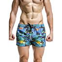 baratos Anéis-Homens Esportivo Calcinhas, Shorts & Calças de Praia Estampado Shorts de Natação