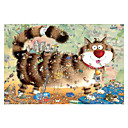 cheap Wooden Puzzles-Jigsaw Puzzle Cat Ship Wooden Unisex Boys' Girls' Toy Gift
