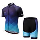 povoljno Biciklističke hlače, kratke hlače i tajice-Miloto Muškarci Kratkih rukava Biciklistička majica s kratkim hlačama - Plava Bicikl Podstavljene kratke hlače / Kompleti odjeće Spandex Postupno / Rastezljivo