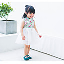 cheap Baby Girls' One-Piece-Baby Girl's Going out Dress Summer Chinoiserie Sleeveless Blue Green White 90 100 110 80 73