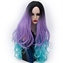 cheap Synthetic Capless Wigs-Synthetic Wig Natural Wave Synthetic Hair Ombre Hair Purple Wig Women's Long Capless Silver Purple