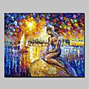 povoljno Apstraktno slikarstvo-Hang oslikana uljanim bojama Ručno oslikana - Apstraktni pejsaži Sažetak Moderna Bez unutrašnje Frame