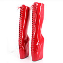 ieftine Ghete de Damă-Pentru femei Pantofi PU Toamnă / Iarnă Noutăți / Cizme la Modă Cizme Platformă Vârf rotund Cizme înalte Rosu / Roz / Albastru Deschis
