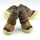 cheap Dog Clothes-Dog Boots / Shoes Keep Warm Solid Colored Black / Brown / Pink For Pets
