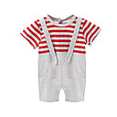 cheap Baby Boys' Clothing Sets-Baby Stripe One-Pieces, Cotton Winter Summer Red