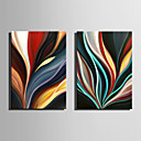 cheap Stretched Canvas Prints-Oil Painting Hand Painted - Abstract Abstract Canvas