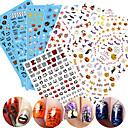 cheap Nail Stickers-1 pcs 3D Nail Stickers Nail DIY Tools Stickers nail art Manicure Pedicure 3D Fashion Daily